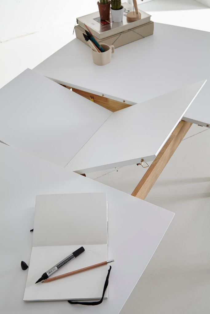 MESA EXTENSIBLE EIDEN 120 (150) x 80 cm