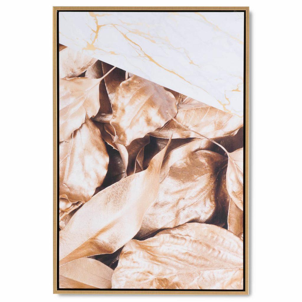 CUADRO GOLDEN LEAF 40 x 60 cm