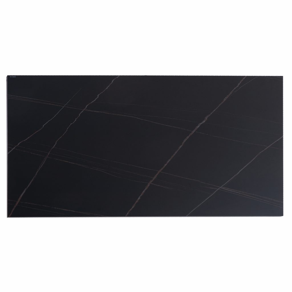 MESA EXTENSIBLE LISA BLANCO – NEGRO SAHARA 140 (200) x 90 cm